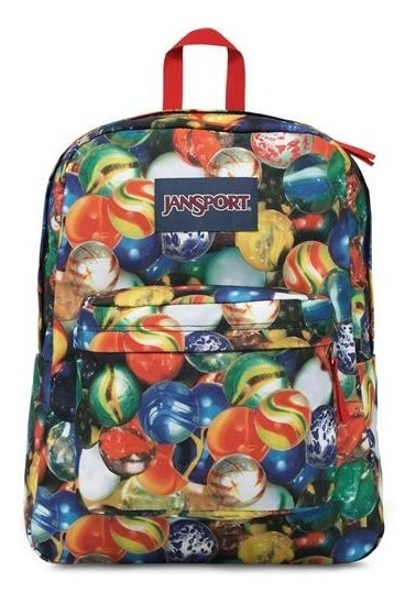 Mochila Jansport De 25 Lts. Super Break (multi Lost Marb)