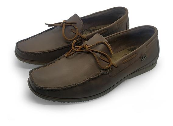 Sapato Masculino Mocassim Confortável Casual Marrom Freeway