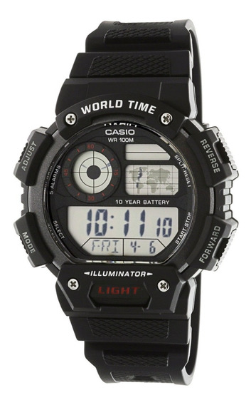 Casio Reloj Digital World Time 100% Original