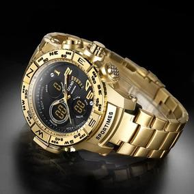 Relógio Dourado Homens