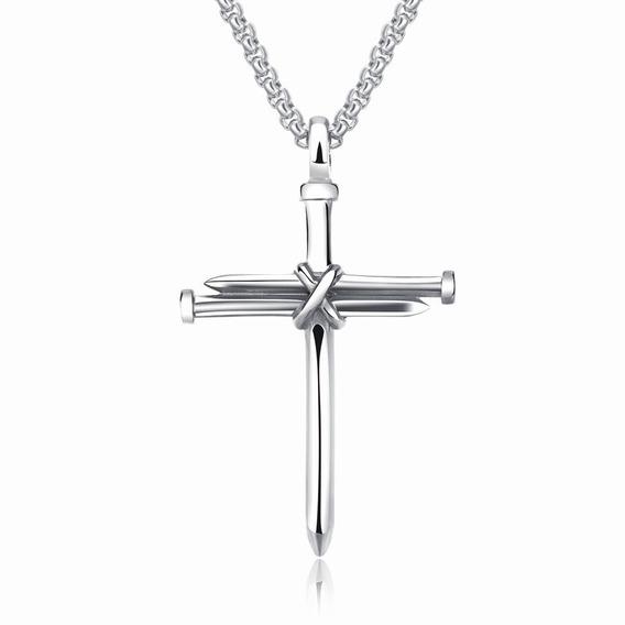 Collar Cruz De Clavos De Acero - 876