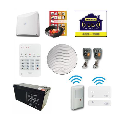 Imagen 1 de 5 de Kit Alarma Inalambrica X28 Domiciliaria Departamento Casa