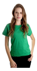Camiseta Feminina Baby Look Roupa Algodão Blusinha Lisa