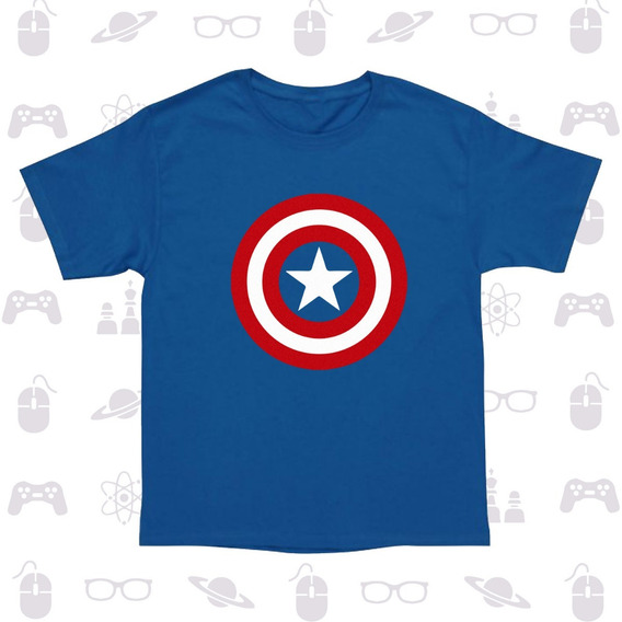 Playera Niño Superheroe Marvel Thor Punisher Capitan America