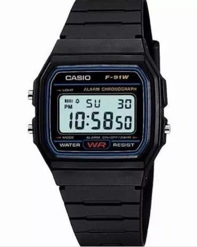 Relogio Casio F9w1 Preto Digital Unissex - Barato