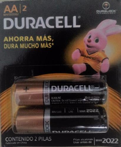 Pilas Baterias Aa Alcalina Duracell Original Blister De 2