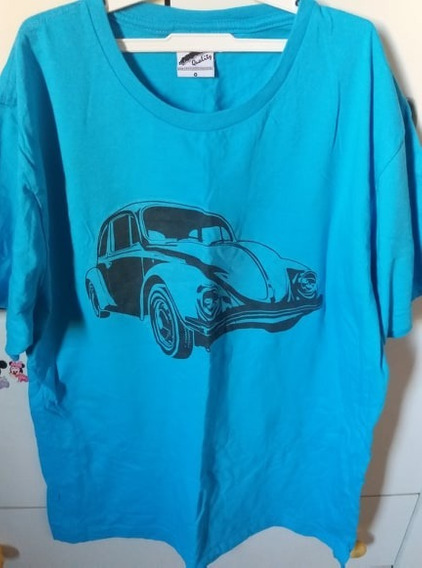 Camisa/blusa Manga Curta Fusca Azul Tamanho G