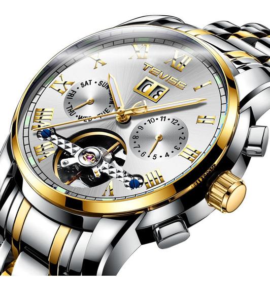 Reloj De Pulsera Mecánico Automático Para Hombres Tevise