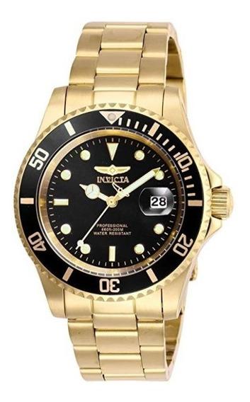 Reloj Invicta 26975 Pro Diver Caballero Original Oro