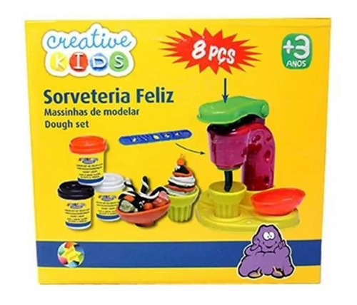 Massinha De Modelar Fabrica De Sorvetes Creative Kids