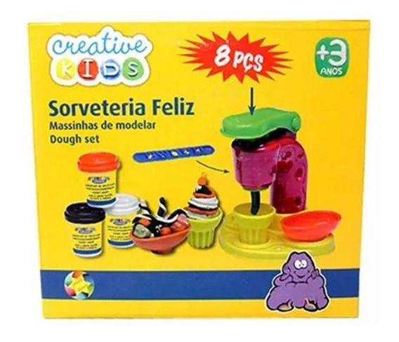 Massinha De Modelar Fabrica De Sorvetes Creative Kids
