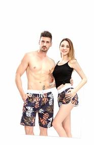 Short Feminino Estampado Moda Praia Verão 2019 # A64b