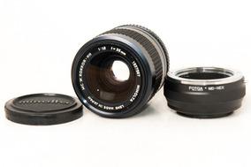 Lente Minolta Mc W Rokkor Hh 35mm F/1.8 Com Adaptador Sony