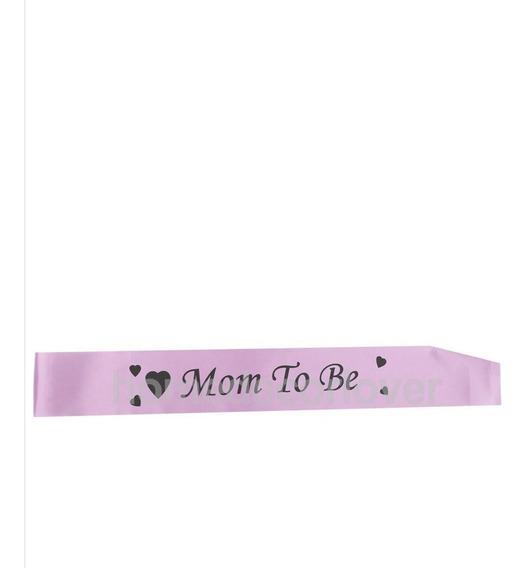 Banda Para Mamá Baby Shower Color Rosa