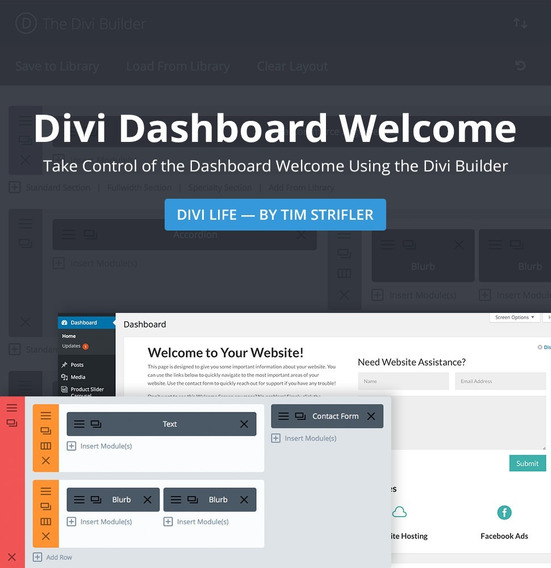 Divi Dashboard Welcome 1.2 - Plugin Wordpress