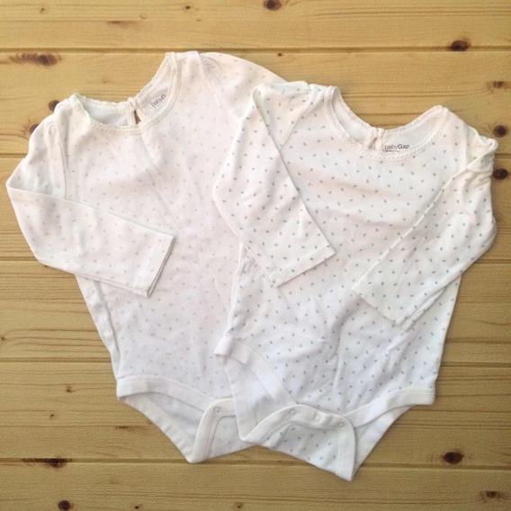 Set De Bodies Baby Gap Para Niña - Talla 12-18 Y 18-24 Meses