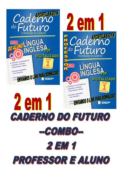 Caderno Do Futuro Ingles 6 Ano Book 1 Do Aluno E Do Professo