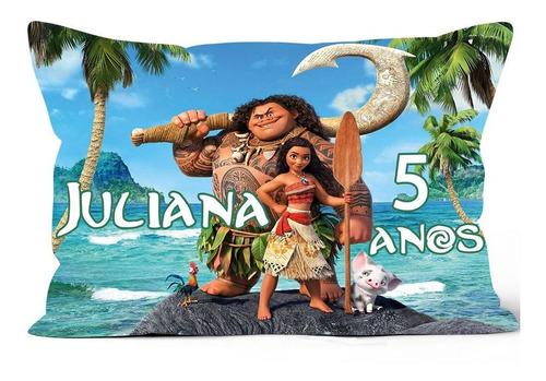 Imagem 1 de 4 de 50 Almofadas Moana Personalizadas 20x30 Frente & Verso