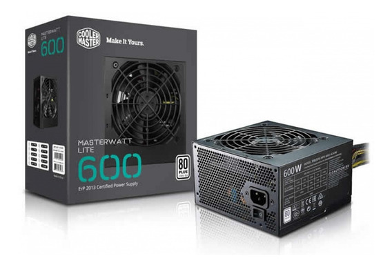 Fonte 500w Coolermaster 80plus White Masterwatt Lite Pfc