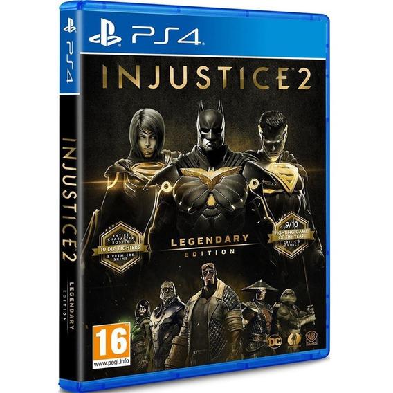 Jogo Injustice 2 Legendary Ps4 Midia Fisica Original Dublado