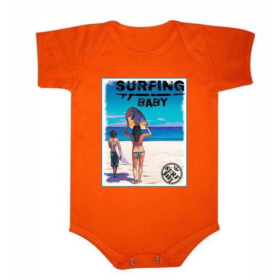 Roupa De Bebê Body De Algodão Surf Baby - 031