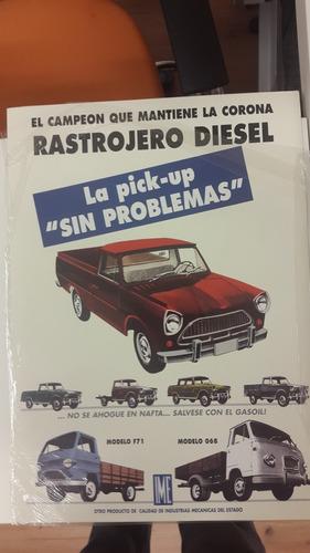 Poster Publicidad Rastrojero Diesel