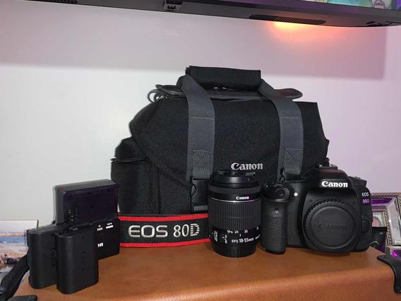 Canon Eos 80d Com Lente 18-55mm + Acessórios