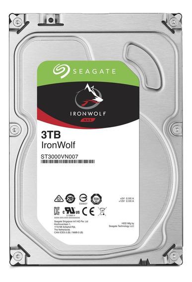 Disco rígido interno Seagate IronWolf ST3000VN007 3TB prata