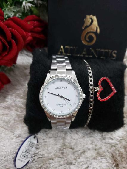 Relógios Femininos Atlantis Kit Com Pulseira Grátis