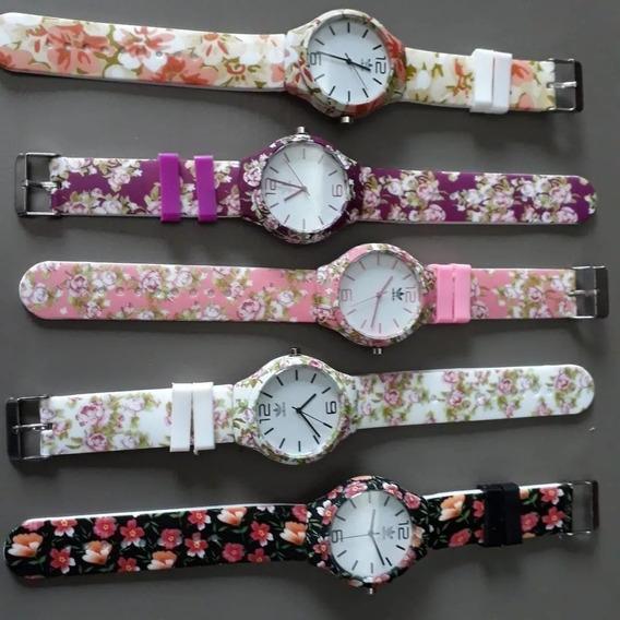 Relógios Floridos C/ 10 Atacado + Caixinhas Revenda