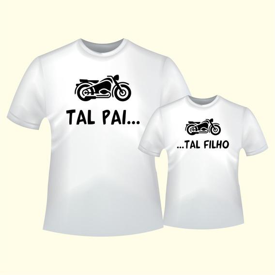 Kit Camiseta Moto Tal Pai Tal Filho