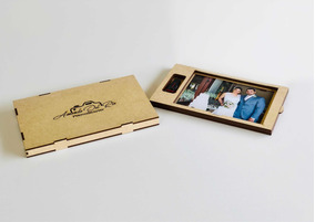 10 Caixas Mdf Personalizadas Para Fotos 10x15 + Pen Drive