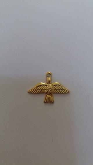 Kit 100 Medalhas Divino Espírito Santo Dourado C/ Alfinet