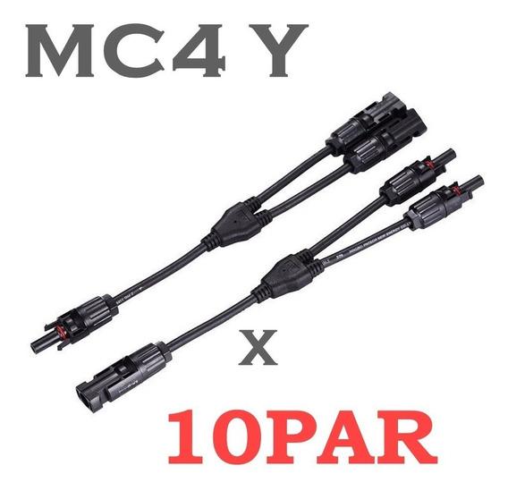 Conector Mc4 Y Para Painel Solar Fotovoltaico -kit 10 Pares