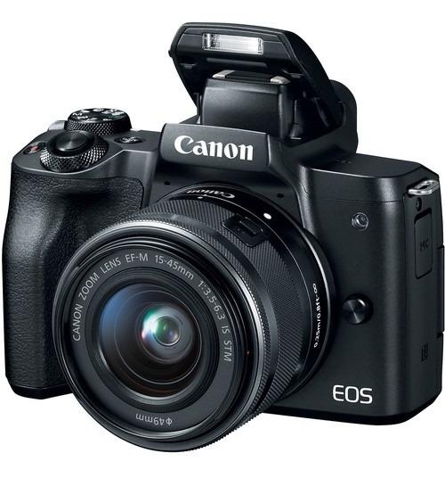 Câmera Canon Eos M50 Mirrorless C/ Lente 15-45mm 12x S/juros
