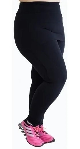 Roupa Feminina De Academia Plus Size Calça Legging Com Saia