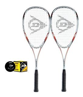 Kit 2 Raquetes De Squash Dunlop Blaze Tour 3.0 + Bola Brinde
