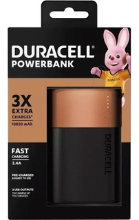 Carregador Portátil 10050mah 3x Duracell - Power Bank