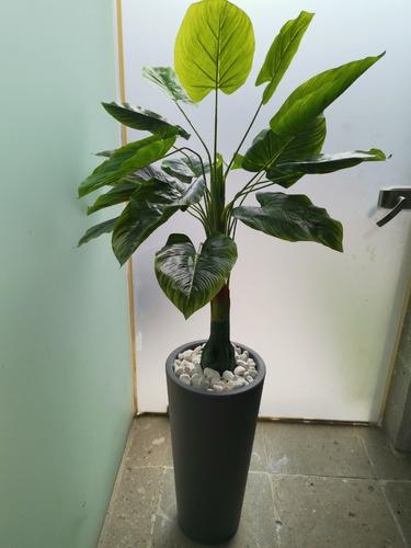 Arreglo Planta Artificial Con Maceta Minimalista De Plástico