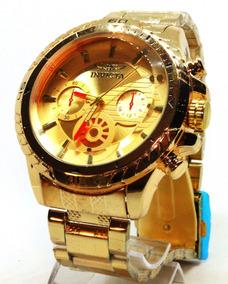 Relogio Dourado De Luxo Masculino - Com Caixa