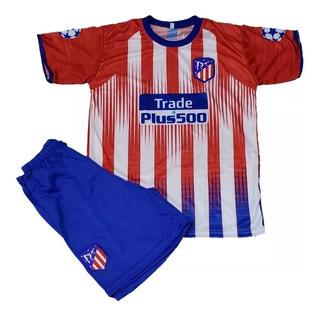 Conjunto De Futebol Atlético De Madrid Infantil 02 Á 04 Anos