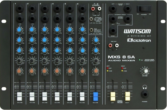 Wattsom / Ciclotron Mxs 8 Sa ¨ Mesa De Som 8 Canais Stereo
