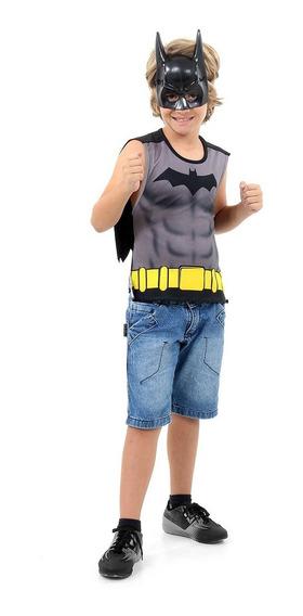 Disfraz Batman Remera Con Capa Y Mascara Orig Sulamericana