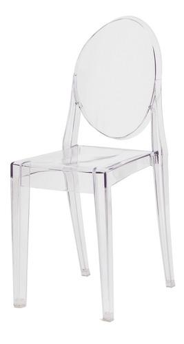 Imagem 1 de 5 de Cadeira Victoria Ghost Policarbonato Várias Cores