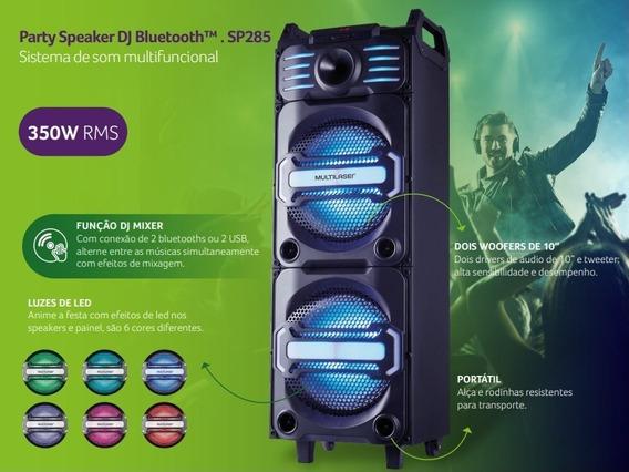 Caixa Ativa Multilaser Dj Bluetooth Usb Sp285