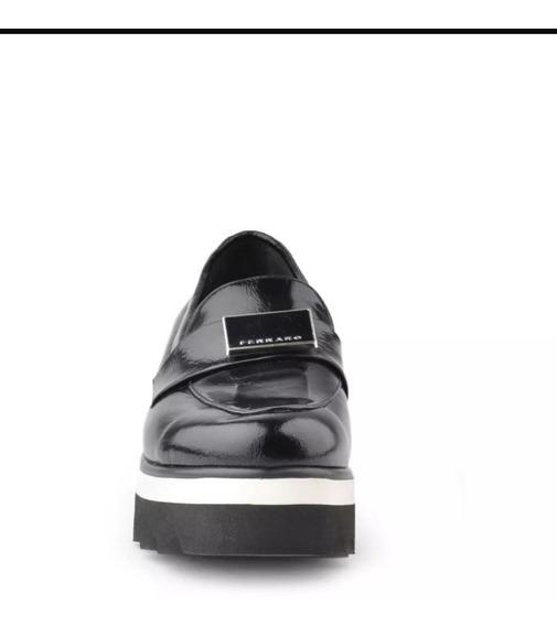 Zapato De Cuero Y Charol Suela Goma