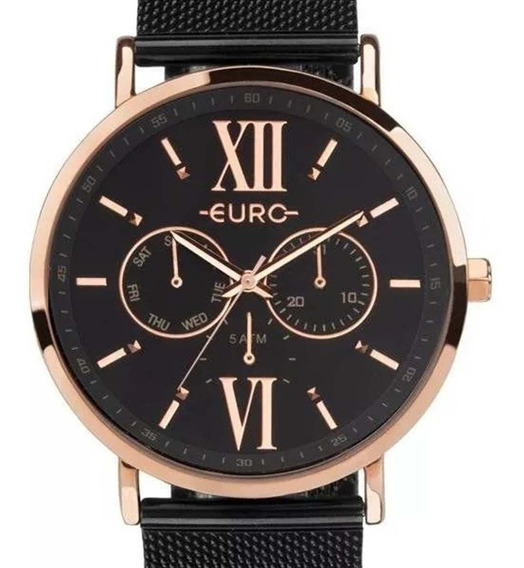 Relógio Euro Feminino Multifunção Preto Euvd75af/4p C/ Nf-e