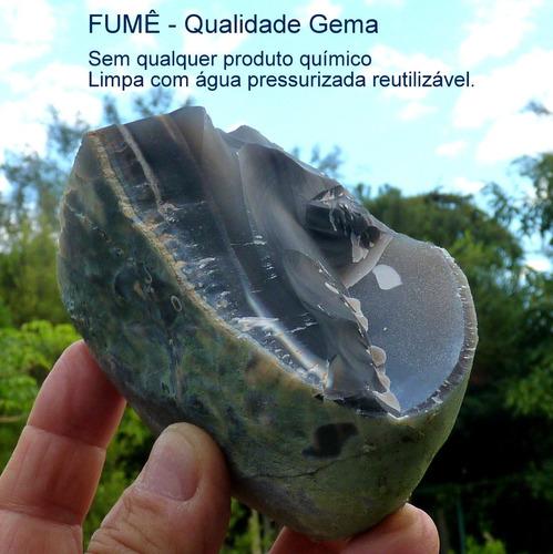 Fumê Bruto Natural Pedra Preciosa Qualidade Gema 7114