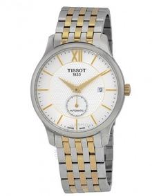 Relógio Tissot Small Sec Tradition Prata/dourado Automático