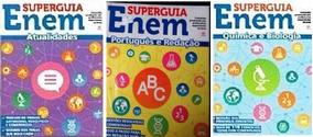 Lote Kit 3 Livros Super Guia Enem - Ano 2014 - Ler Anúncio